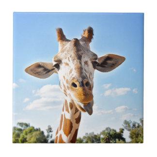 Silly Giraffe Ceramic Tile