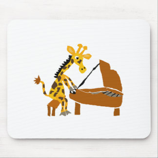 Silly Giraffe Playing the Piano Mouse Pad