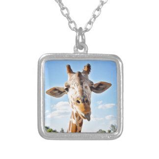 Silly Giraffe Silver Plated Necklace