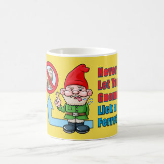 Silly Gnome And Ferret Coffee Mug