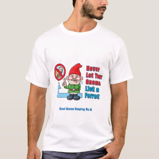 Silly Gnome And Ferret T-Shirt