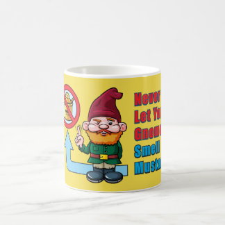 Silly Gnome and Mustard Coffee Mug