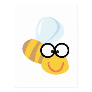 silly goofy bumble bee postcard