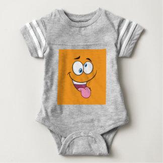 Silly Goofy Square Emoji Baby Bodysuit