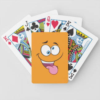 Silly Goofy Square Emoji Bicycle Playing Cards