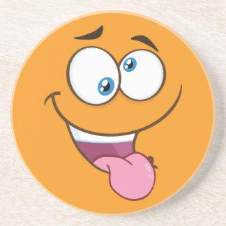 Silly Goofy Square Emoji Coaster