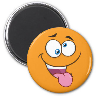 Silly Goofy Square Emoji Magnet