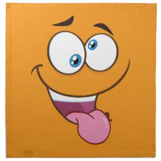 Silly Goofy Square Emoji Napkin