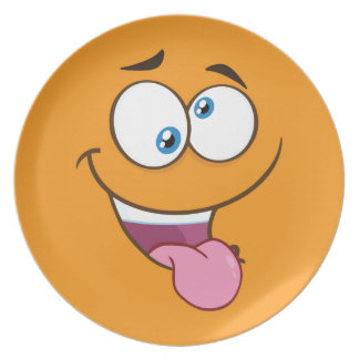 Silly Goofy Square Emoji Plate