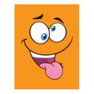 Silly Goofy Square Emoji Postcard