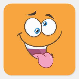 Silly Goofy Square Emoji Square Sticker