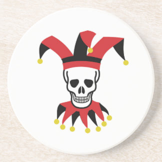 silly hat of death beverage coaster