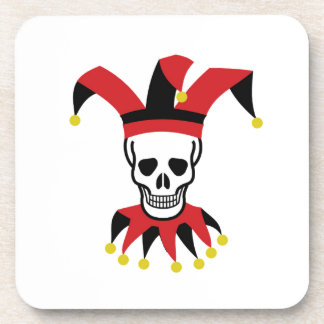 silly hat of death beverage coasters