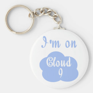 Silly I'm on cloud nine t-shirts and gifts. Basic Round Button Key Ring