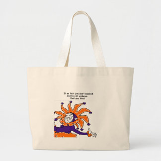 Silly Joker Tote Bags