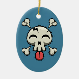 Silly Jolly Roger Ceramic Ornament