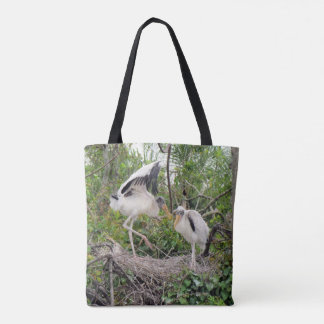 Silly Juvenile Woodstorks - Tote Bag