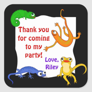 Silly Leaping Lizard Gift Label