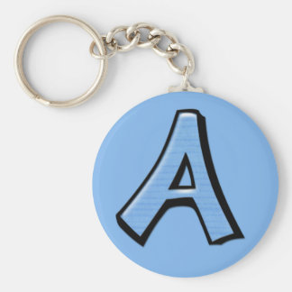 Silly Letter A blue Keychain