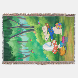 Silly Little Bunny Throw Blanket