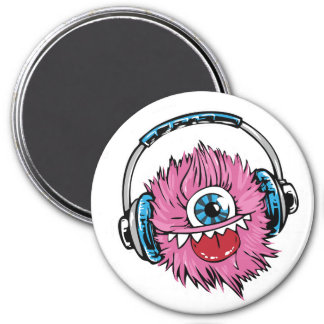 Silly Little Fuzzy Monster 7.5 Cm Round Magnet