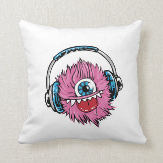 Silly Little Fuzzy Monster Throw Pillow