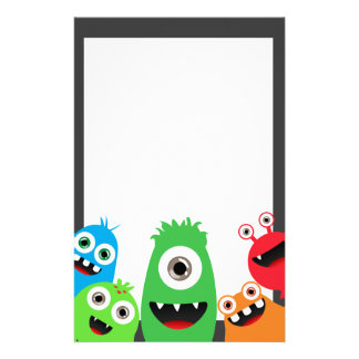 Silly Little Monsters Stationery