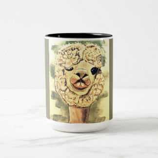 Silly Llama Two-Tone Coffee Mug
