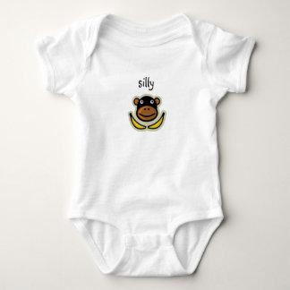 silly monkey baby bodysuit