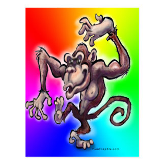 Silly Monkey Postcard