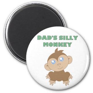 Silly Monkey - Standard, 2¼ Inch Round Magnet 6 Cm Round Magnet
