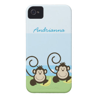 Silly Monkeys Personalized Blackberry Phone Case iPhone 4 Case-Mate Cases