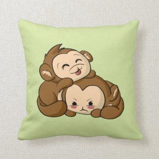 Silly Monkeys! Throw Pillow