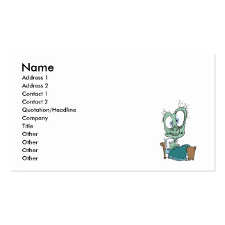 silly monster in bed business card