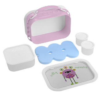 Silly Monster Lunch Box with Plate and Containers