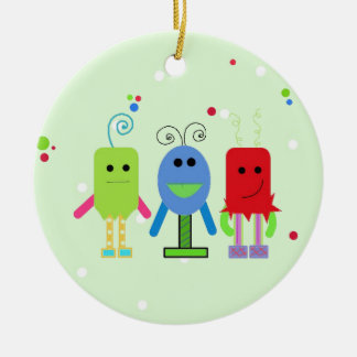 Silly Monsters Ceramic Ornament