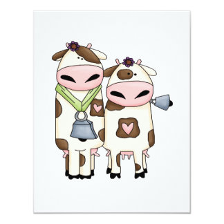 silly moo cow couple cartoon card