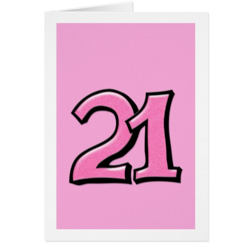 Silly Number 21 pink C...