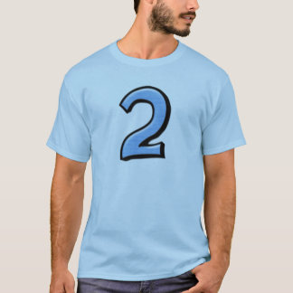 Silly Numbers 2 blue Men's T-shirt