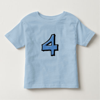 Silly Numbers 4 blue Kids T-shirt