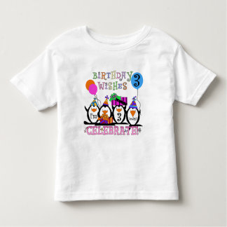 Silly Penguins 3rd Birthday Tshirts and Gifts