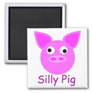 Silly Pig Magnet