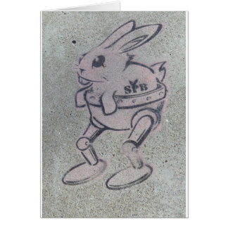 SILLY  PINK  BUNNY CARD