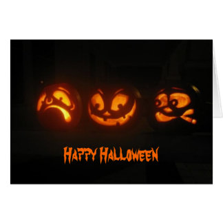 Silly pumpkins greeting cards