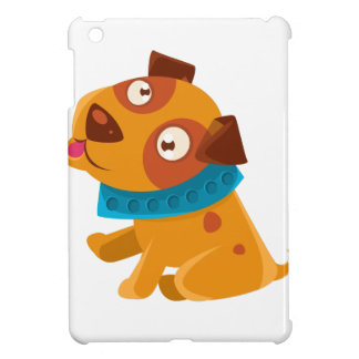 Silly Puppy With The Blue Collar Ready To Go For Cover For The iPad Mini