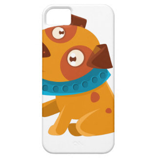 Silly Puppy With The Blue Collar Ready To Go For iPhone 5 Cases
