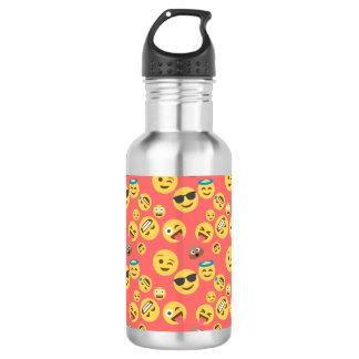 Silly Red Emoji Pattern 532 Ml Water Bottle