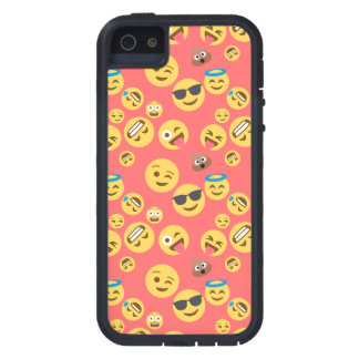 Silly Red Emoji Pattern iPhone 5 Cases