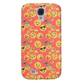 Silly Red Emoji Pattern Samsung Galaxy S4 Covers