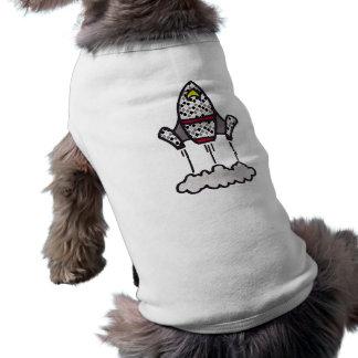 Silly Rocket Sleeveless Dog Shirt